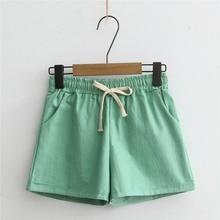 купить!  Шорты женские Новые Pantalones Cortos Mujer женские шорты Candy Color Повседневная Свободные хлопчат Лучший!