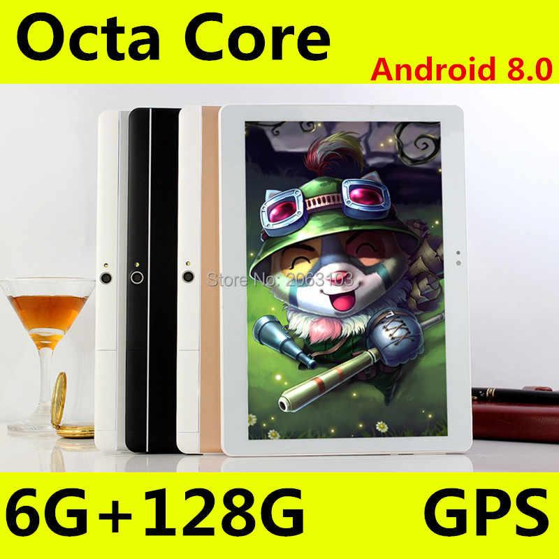 حار الروبوت 8.0 النسخة 10 بوصة الثماني الأساسية اللوحي 6GB RAM 128GB ROM 1280x800 IPS المزدوج سيم بطاقات 3G 4G FDD LTE الإعلام الوسادة 10