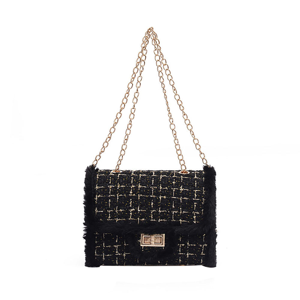 Tide Chain Single Shoulder Small Square Handbags A125.001 Image