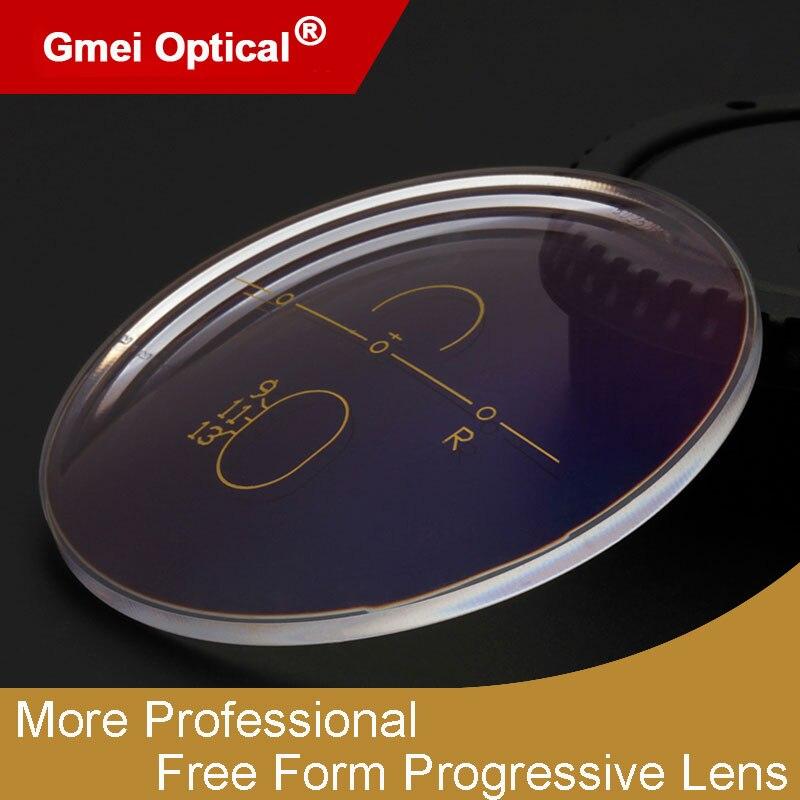 1.56 lentilles de Prescription multifocales optiques progressives de forme libre photochromique représentation rapide et profonde de changement de couleur