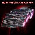 Ruso Teclado Retroiluminación Del Teclado Con Cable Rojo/Púrpura/Azul LED Baclit Pc Gamer Teclado para LOL Teclado Para Juegos PC Laptop