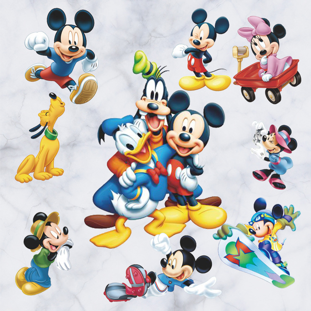 Cute Mickey Mouse Wall Stickers For School Removable Pvc Tom And Jerry  Nursery Wall Decals Baby Part 62
