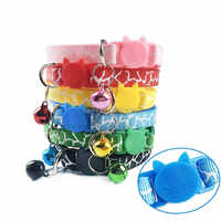 Wholesale 100Pcs Cat Dog Collar With Bell Camo Neck Strap Polyester Adjustable Buckle Kitten Puppy Pet Leash Pet Accessories