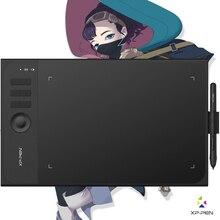 Xp pen Star 06 tablette de dessin graphique avec sensibilité à la pression de 8192 niveaux conception de Mode filaire et sans fil avec clé à roulettes