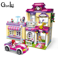 Enlightenment Girl Friends Shirley S Beauty SPA Shop Building Blocks Sets Bricks Toys Figures Compatible With