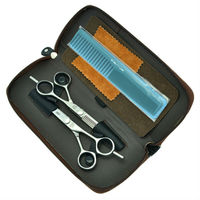 6.0 5.5 Barber KIV Cutting & Thinning Scissors kits Professional Salon Hair Shears Hairdressing Set, LZS0156
