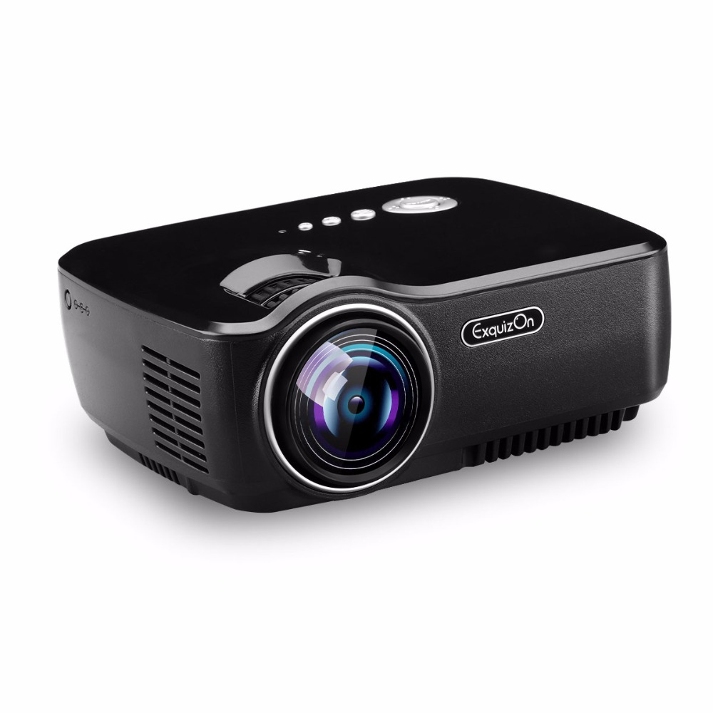 Led Lcd Projector X7 Home Cinema Theater Multimedia Led: Exquizon GP70 Portable Pocket LED Projector 1800Lumen