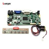 Hdmi vga dvi interface de áudio controlador unidade placa conjunto para painel 14 polegada lp140wh4 bt140gw01 1366*768 lvds 40 pinos A4 012|Amplificador| |  -