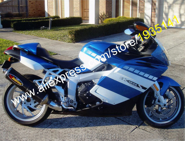 Hot Sales,For BMW K1200S Body Kit 2005 2006 2007 2008 K 1200 S 05-08 Blue Black White Aftermarket Sports Motorcycle Fairing Set aftermarket free shipping motorcycle parts eliminator tidy tail for 2006 2007 2008 fz6 fazer 2007 2008b lack