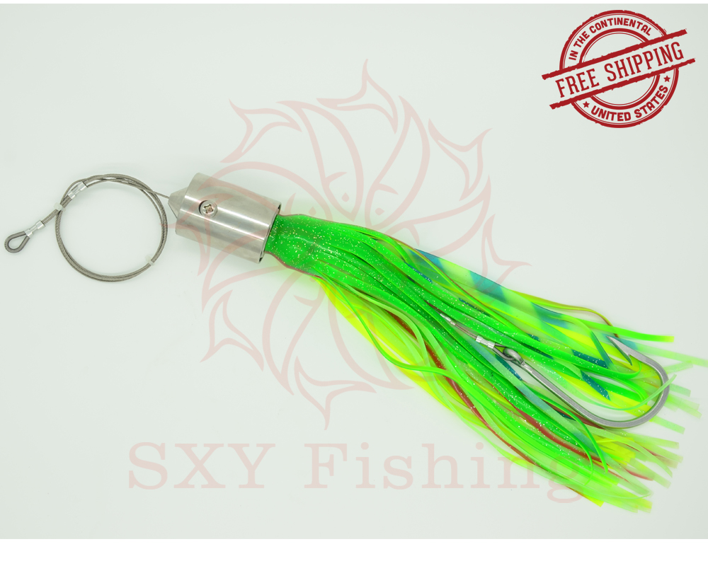 SXY fishing FREE SHIPPING D103M Deep-sea fishing Fake lure 440g Stainless steel Drag the bait All Metal Octopus Lure Tuna Lure rigged custom big game marlin tuna hawaiian deep sea trolling lure