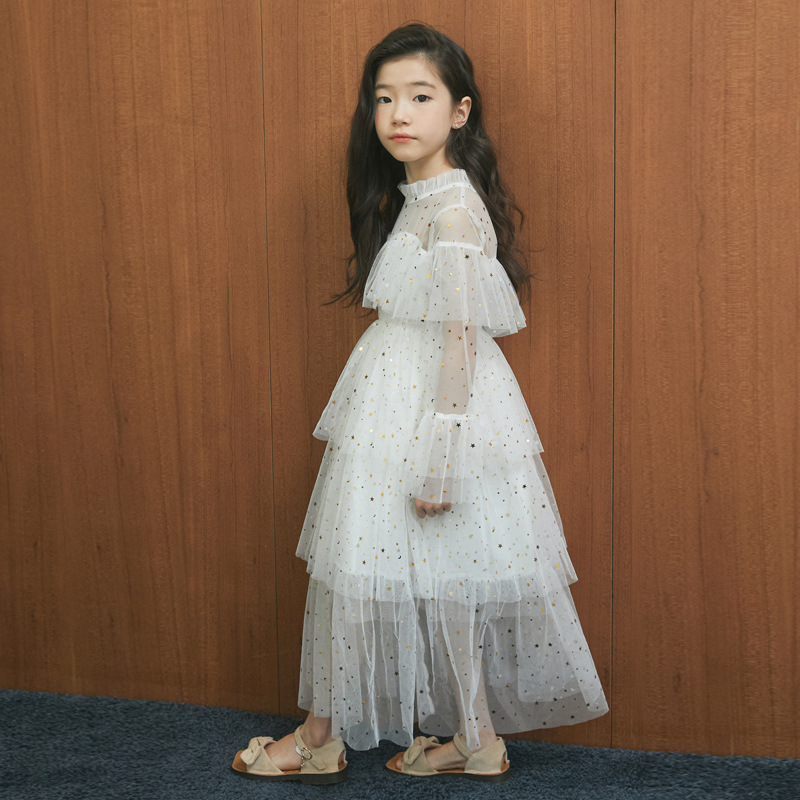 New Spring and Summer 2019 Girl Star Mesh Dress Girl Dress Baby Princess Dress Mother and Daughter Dress Ruffles Beautiful,#3995New Spring and Summer 2019 Girl Star Mesh Dress Girl Dress Baby Princess Dress Mother and Daughter Dress Ruffles Beautiful,#3995