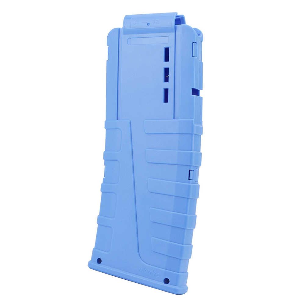 Nieuwste 12 Reload Clip Tijdschriften Ronde Darts Vervanging Plastic Tijdschriften Speelgoed Pistool Zachte Kogel Clip voor Nerf Gun Clips