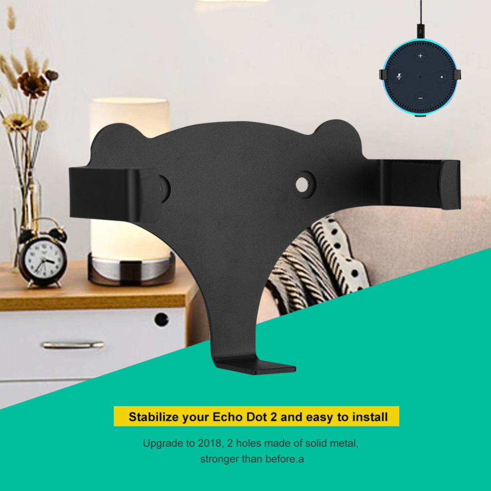 Wall Mount Stand Holder for Amazon Echo Dot 2nd Generation for Kitchen Bathroom Living Room Office