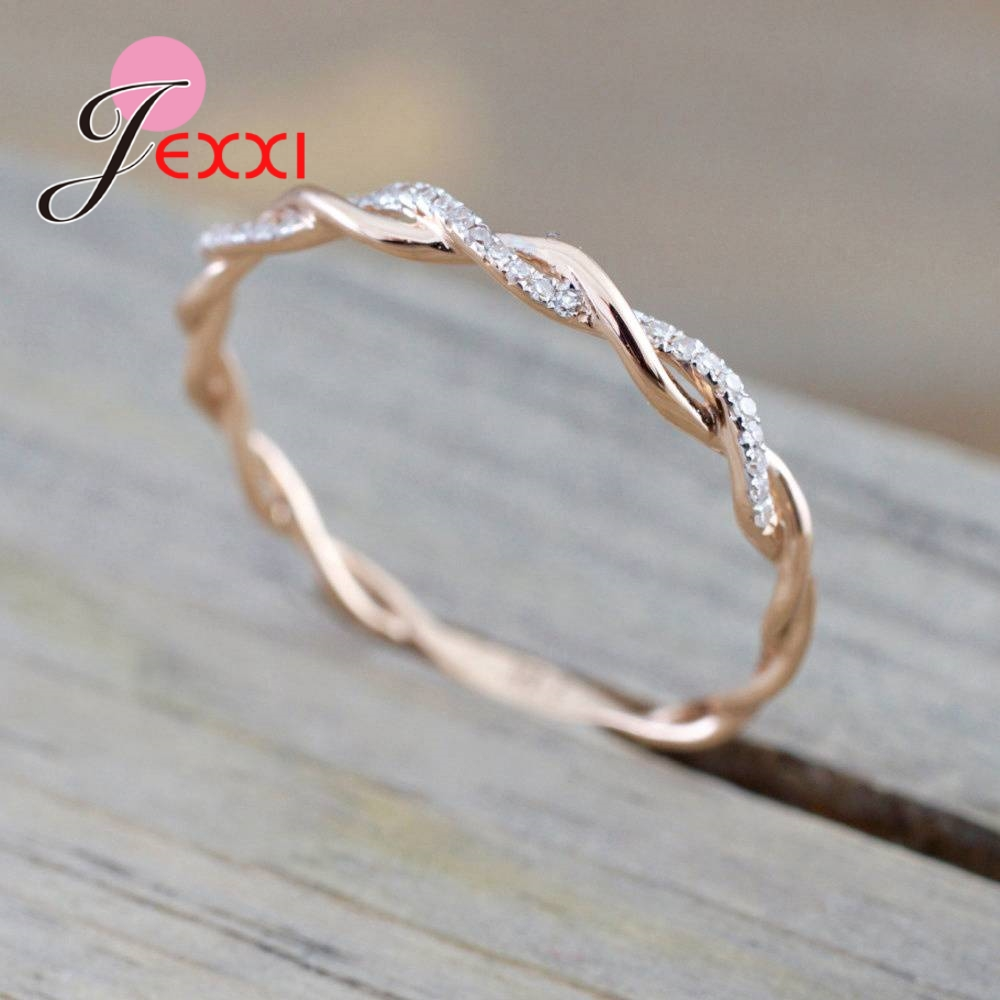JEXXI Fashion Simple 925 Sterling Silver Finger Cross Ring Women Girls Accessories Jewelry Gift For Party Engagement Wholesale