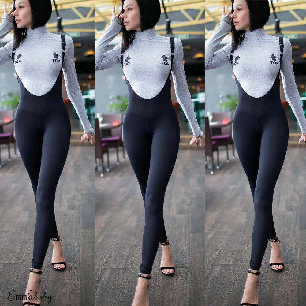 2019 Fashion Women Jumpsuit Sleeveless Spaghetti Strap Jumpsuit Summer Stretchy Slim Jumpsuit Womens Casual Clubwear Outfits