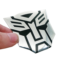 цена на 3D Car Stickers Cool Autobots Logo Car Styling Metal Transformers Badge Emblem Tail Decal Motorcycle Car Accessories Automobile