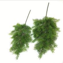 Artificial verde cipreste folha de árvore de pinho agulha folhas ramo natal casamento casa escritório decoração do hotel