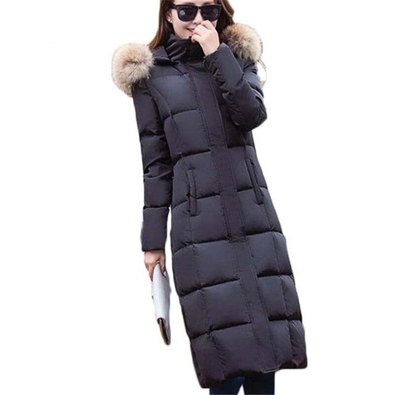 Raton Vestes Long De Vêtements Nouveau Laveur Femmes Capuchon Réel Collier Coton Hiver D411 grey 2018 Avec À Fourrure Black lcTFK1J
