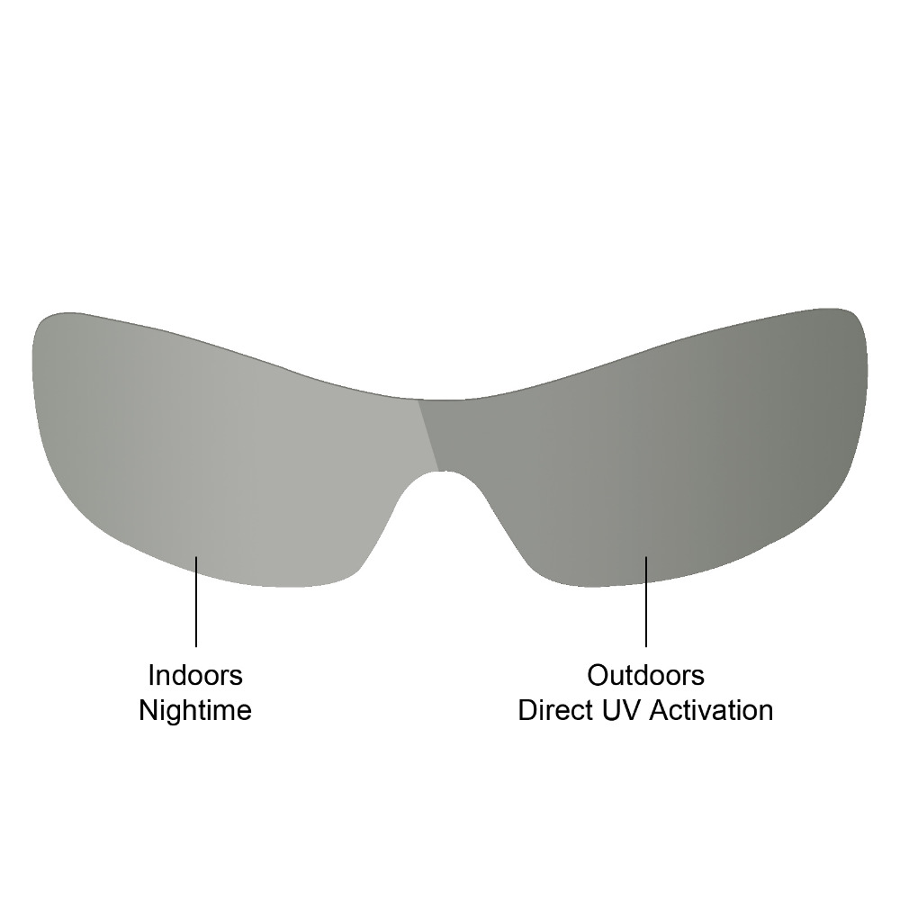 960fb5d8cec Mryok Anti-Scratch POLARIZED Replacement Lenses for Oakley Antix Sunglasses  Grey Photochromic