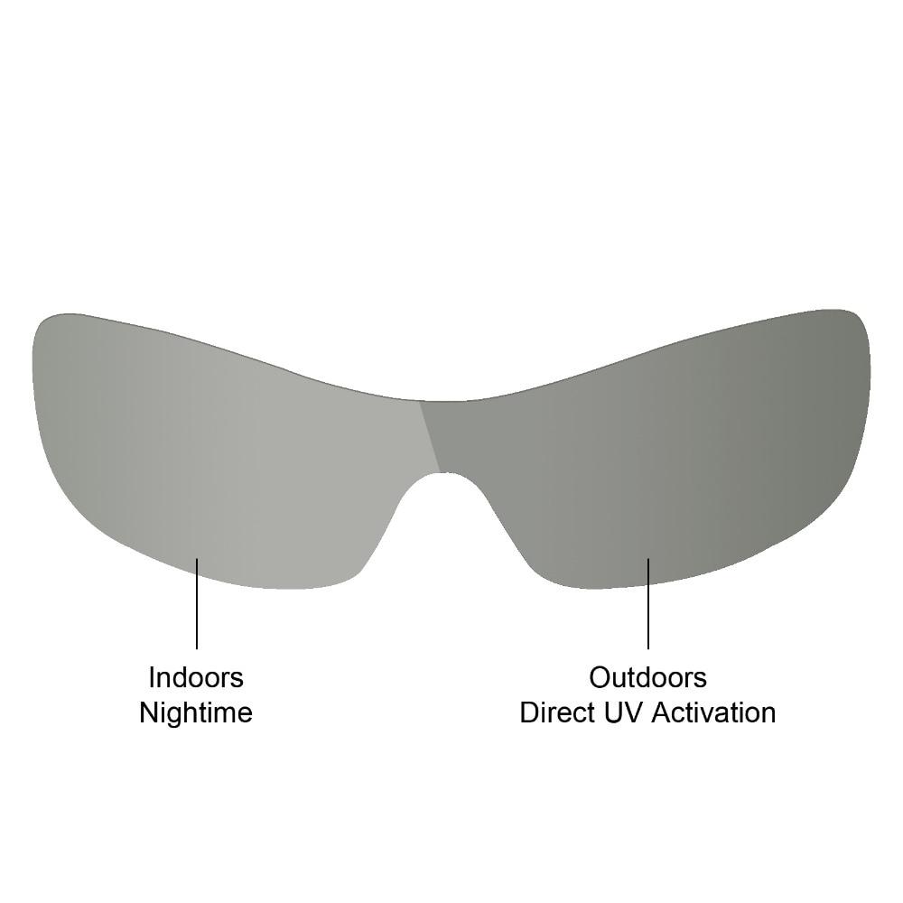 Mryok Anti-Scratch POLARIZED Replacement Lenses For-Oakley Antix Sunglasses Grey Photochromic