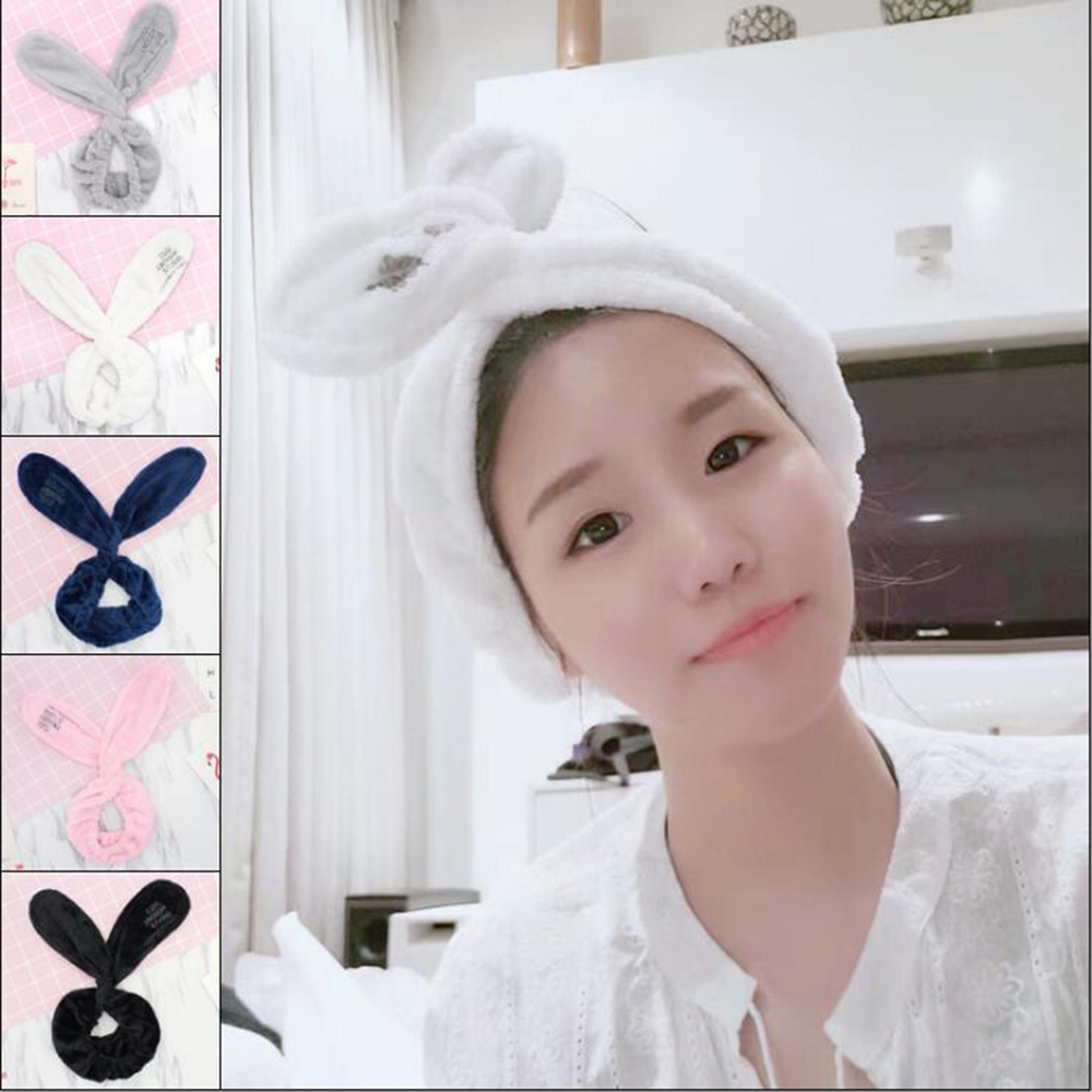 2018 New Cute Big Ears Comfortable Wash Face Bathe Hair Holder Elastic Headbands For Women Girls Hairbands Hair Accessories