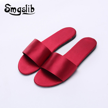 Woman Slides Lady Fashion Casual Beach Silk Home Sandals Slippers Women 2019 Summer Comfortable Sexy