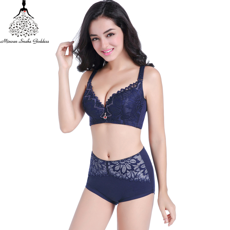 Aliexpress.com   Buy Lace Lingerie Set Plus Size Push Up Bra And Panty Set  Sexy Lace Large Cups Intimate Women Underwear Bra Set Bra Brief CD Cups ... 3b0a92af4