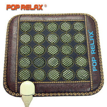 POP RELAX  Jade Stone Seat Mattress Electric Heating Pad Mat Far Infrared Physiotherapy Health R-Infrared-Physiotherapy-Heal