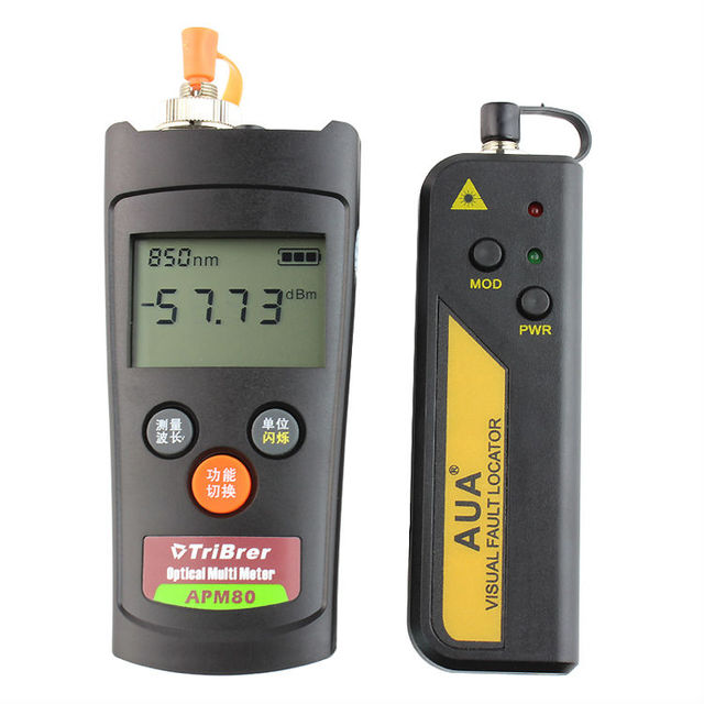 Free shipping mini optical power meter  tester and red light source 1mw Visual Fault Locator 1-5km fiber pen