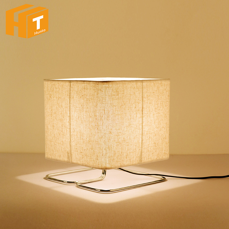 Modern simple Led reading table lamps,cloth lampshade&iron bracket desk lamp bedroom Office study room living room light fixture стоимость