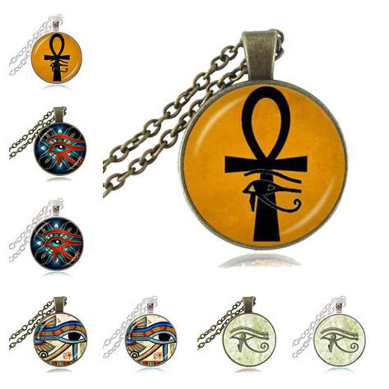 Ancient Eye Of Horus Ra Ankh Necklace Cross Of Life Pendant God