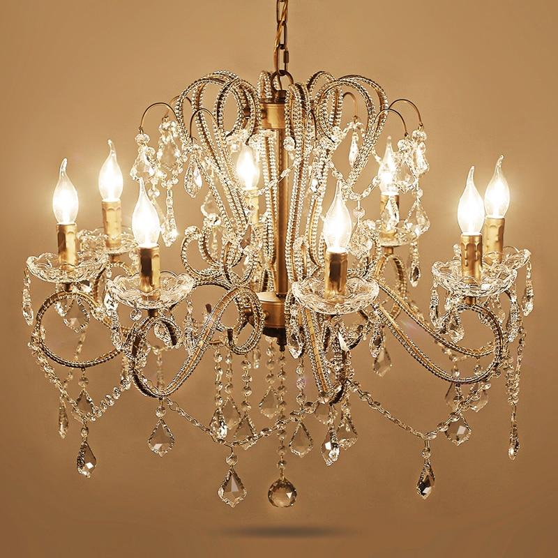 Gold Crystal Lamp Modern Led Crystal Chandelier Lighting