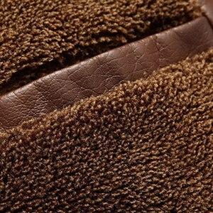 Image 5 - Mountainskin jaqueta couro sintético masculina, casacos de lã alta qualidade pu para uso externo, de negócios no inverno 5xl eda113