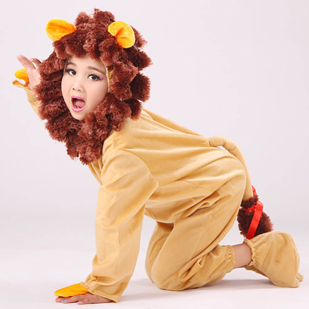 Kids Cowardly Lion Costume Toddler Baby Lion Costume Dress Up Animal ...