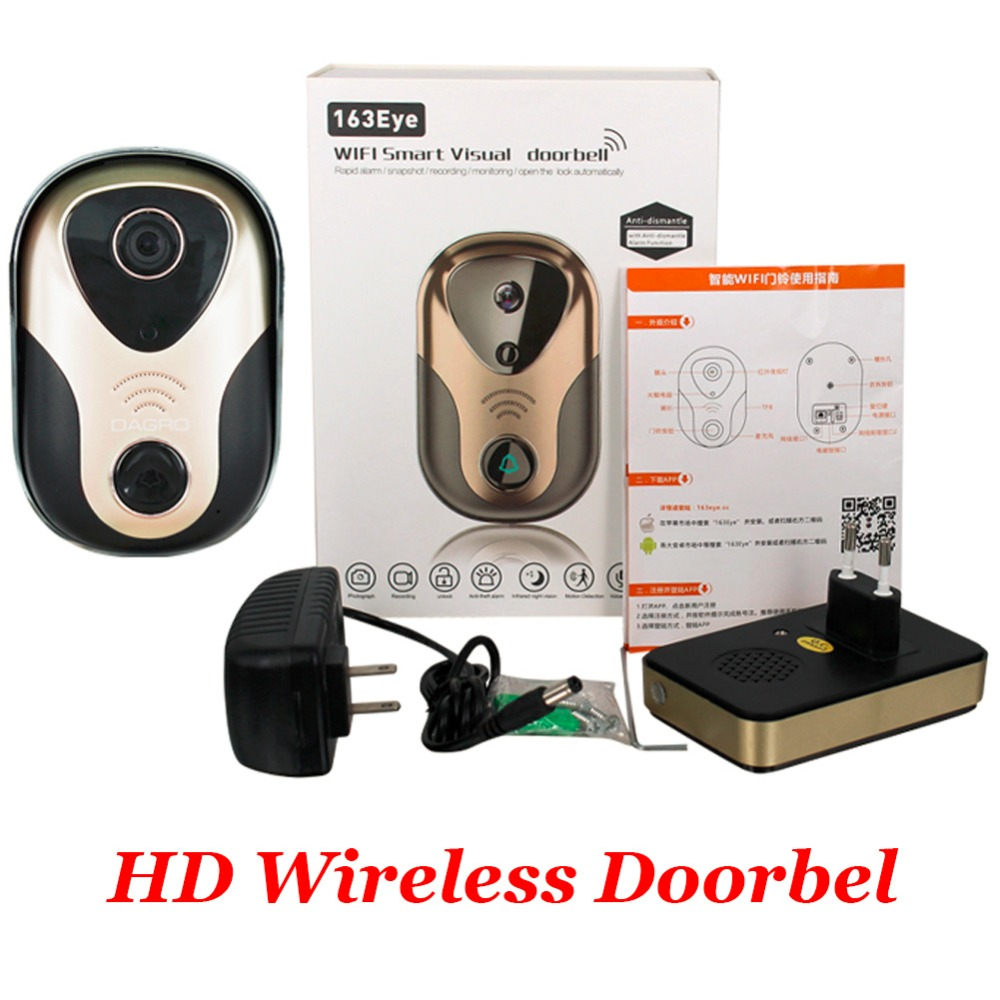 720P HD Wireless Doorbell 3G 4G Wifi Camera + Indoor Bell Intercom System IR Night Vision Home Improvement Visual Door Ring zilnk video intercom hd 720p wifi doorbell camera smart home security night vision wireless doorphone with indoor chime silver