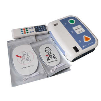 Elysaid 120C+ AED Trainer Automated External Defibrillator Emergency CPR Training Teaching First Aid Device + 2pcs CPR