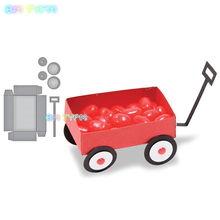 BM Small red wagon Metal cutting dies new 2018 DIY Scrapbooking album Decorative Embossing Hand-on Paper Cards red wagon