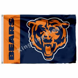 e10caa3f409 ziqiang Chicago Bears Wordmark Custom Flag