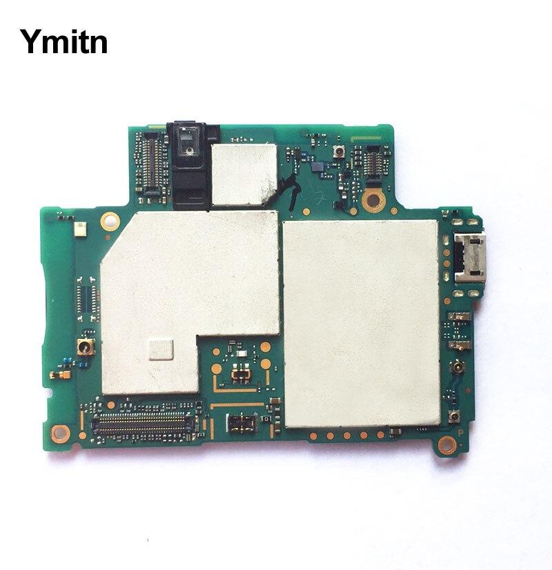 Ymitn Débloqué Logement Mobile panneau Électronique carte mère Carte Mère Circuits Flex Câble Pour Sony Xperia Z2 D6503 Z2A D6553