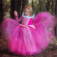 Baby Girls Elsa Dress Floral Princess Party Tutu Dress Long Sleeves Girls Snow Queen Cosplay Costume