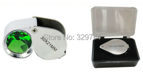 10x21mm Jewel Jewelry Magnifier Pocket Loupe with a plastic box