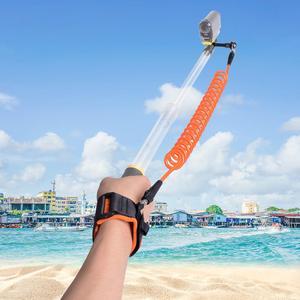 Image 2 - Fantaseal Duiksport Drijvende Polsband + Hand Grip Houder voor GoPro Hero 8 7 6 5 4 Zwart Sessie SJCAM Eken Action Cam