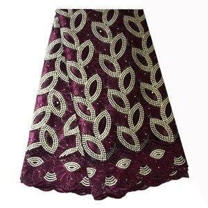 Image 5 - Francese Tessuto di Pizzo Teal Verde In Rilievo Tessuto Africano Del Merletto 2020 di Alta Qualità Pizzo Ricamato Tessuto per la Cerimonia Nuziale Nigeriano Abiti