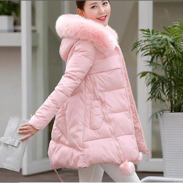 Winter Jacket Women new Faux Fur Irregular Hooded Down Parka Female Thicken Warm Outwear plus size Jackets And Coats