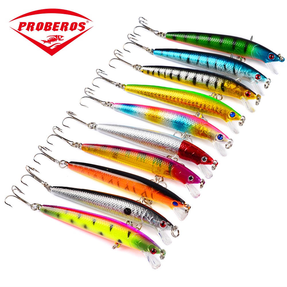 Lure Hard Artificial Fake Bait Wobblers 9.5cm 8.5g 10 Color Fishing Crankbait With 3d Eyes For  Predatory Fish