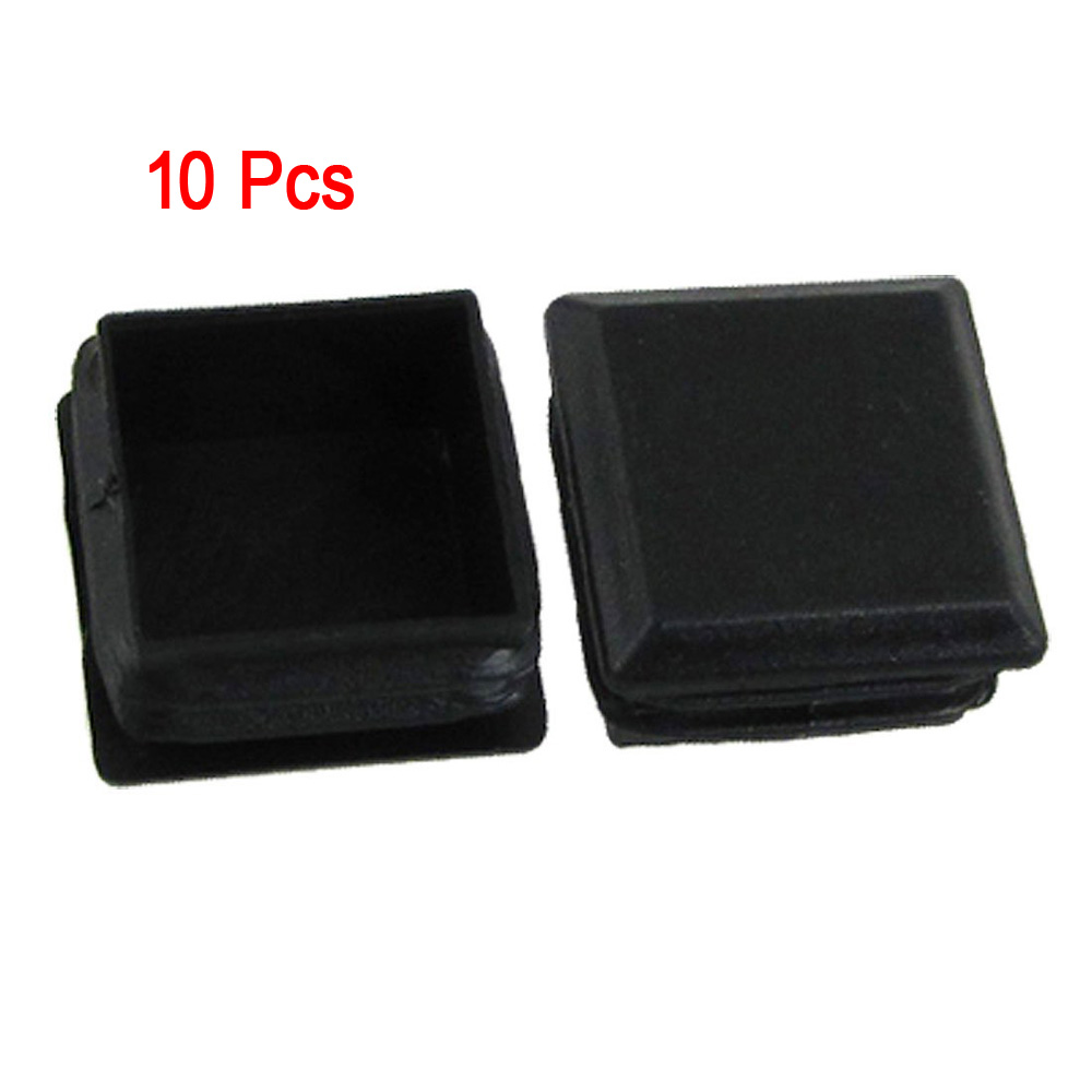 Botique 10 Pcs Black Plastic Square Tube Inserts End Blanking Cap 25mm X 25mm