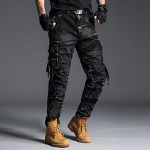 Cargo Pants Men Tactical Camo Mens With Pockets Fashions 2019 Overalls Camouflage Workout Long Trousers New Streetwear