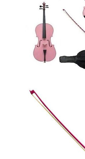 핑크 colorccello 4/4 새로운 전기 어쿠스틱 첼로 좋은 소리 단단한 나무 4 문자열 #206 당신은 색상을 선택할 수 있습니다 나는 당신을 위해 만들 수 있습니다