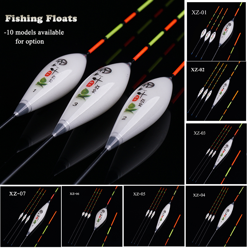 3pcs/lot Composite Nano Fishing Floats 1-3# Flotador Pesca 10 Models Available Stopper Bobbers Fishing Accessories Tools Tackles