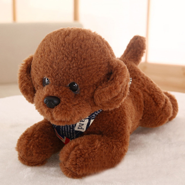 10pcs/lot 35CM Cute Puppy Dolls Teddy Plush Dogs Stuffed Pet Soft Toys Kids Children Birthday Gifts Decor Collection